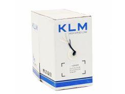 Кабель KLM CAT5E (UTP Solid) 2*2*0.50 мм. биметал, наружный с троссом, бухта 305м
