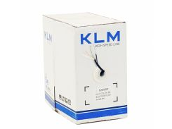 Кабель KLM CAT5E (UTP Solid) 4*2*0.50 мм. биметал, наружный с троссом, бухта 305м
