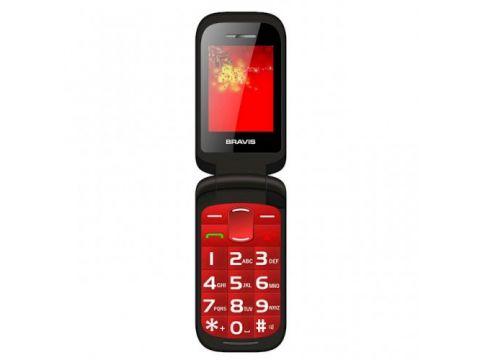 Бабушкофон Телефон BRAVIS CLAMP (red) Киев