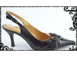 Босоножки на каблуке острый носок. Разные размеры