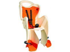 Сиденье заднее Bellelli Pepe Standart Multifix до 22кг, бежевое с оранжевой подкладкой (SAD-25-B6)