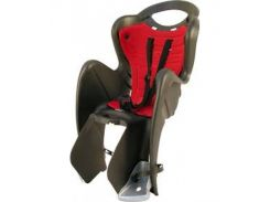 Сиденье заднее Bellelli Mr Fox Relax B-fix до 22кг, чёрное с красной подкладкой (SAD-10-32)