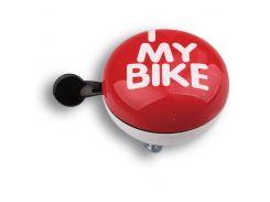 Динг-Донг Green Cycle GCB-1058S I love my bike диаметр 80мм красный (BEL-53-21)