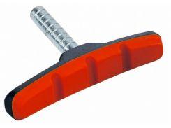 Колодки тормозные ободные ALHONGA HJ 600.12T2G2-RD безрезьбовые черно-красные (BRS-08-20)