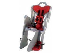 Сиденье заднее Bellelli B1 Сlamp (на багажник) до 22кг, серое с красной подкладкой (SAD-25-48)
