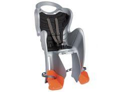 Сиденье заднее Bellelli Mr Fox Сlamp (на багажник) до 22кг, серебристое с чёрной подкладкой (SAD-25-25)