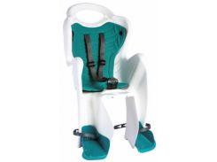 Сиденье заднее Bellelli Mr Fox Сlamp (на багажник) до 22кг, белое с бирюзовой подкладкой (SAD-08-32)
