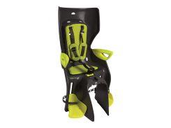 Сиденье заднее Bellelli Summer Сlamp (на багажник) до 22кг, тёмно-серое с салатовой подкладкой (HI Vision) (SAD-76-09)
