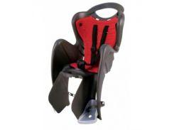 Сиденье заднее Bellelli Mr Fox Сlamp (на багажник) до 22кг, чёрное с красной подкладкой (SAD-25-60)