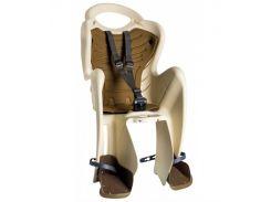 Сиденье заднее Bellelli Mr Fox Сlamp (на багажник) до 22кг бежевое с коричневой подкладкой (SAD-20-11)