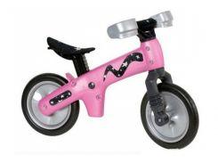 """Беговел 12"""" Bellelli B-Bip обучающий 2-5лет, пластмассовый, чёрный с розовыми колёсами (BIC-05)"""