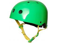 Шлем детский Kiddimoto неоновый зелёный Размер S (48-53 см)