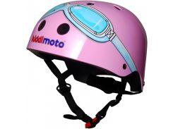 Шлем детский Kiddimoto очки пилота, розовый Размер M (53-58 см)