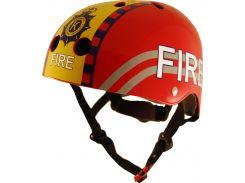 Шлем детский Kiddimoto пожарный, красный Размер S (48-53 см)