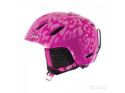 Шлем горнолыжный Giro Nine Jr Magenta Leopard Размер S (52-55,5 см)