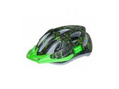 Шлем детский Green Cycle Fast Five черно-зеленый Размер 50-56 см