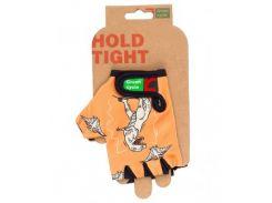 Перчатки Green Cycle NC-2335-2014 Kids без пальцев оранжевые Размер XL