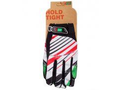 Перчатки Green Cycle NC-2369-2014 MTB с закрытыми пальцами бело-красные Размер S