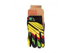 Перчатки Green Cycle NC-2369-2014 MTB с закрытыми пальцами желто-красные Размер S