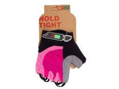 Перчатки Green Cycle NC-2523-2015 MTB Feminine без пальцев розово-черные Размер L