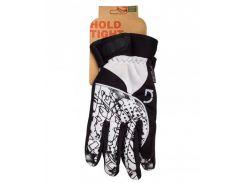 Перчатки Green Cycle NC-2409-2014 Winter с закрытыми пальцами черно-белые Размер M