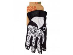 Перчатки Green Cycle NC-2409-2014 Winter с закрытыми пальцами черно-белые Размер XL