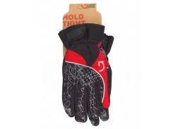 Перчатки Green Cycle NC-2409-2014 Winter с закрытыми пальцами черный-серый-красный Размер S