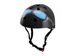 Шлем детский Kiddimoto Black Goggle Размер S (48-53 см)
