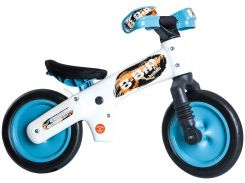 """Беговел 12"""" Bellelli B-Bip обучающий 2-5лет, пластмассовый, белый с голубыми колёсами (SKD-41-35)"""