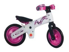 """Беговел 12"""" Bellelli B-Bip обучающий 2-5лет, пластмассовый, белый с розовыми колёсами (SKD-90-81)"""