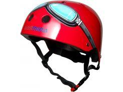 Шлем детский Kiddimoto очки пилота, красный Размер S (48-53 см)