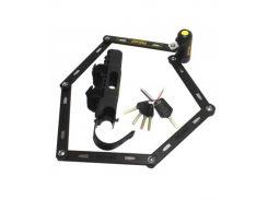 Замок складной OnGuard Revolver Link Plate X4P 112см. 4 ключа + 1 с подсветкой (LCK-27-70)