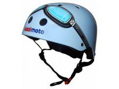 Шлем детский Kiddimoto очки пилота, голубой Размер S (48-53 см)