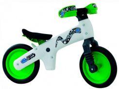 """Беговел 12"""" Bellelli B-Bip обучающий 2-5лет, пластмассовый, белый с зелёными колёсами (BIC-75)"""