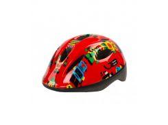 Шлем детский Green Cycle Robots красный Размер 48-52 см