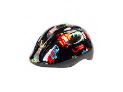 Шлем детский Green Cycle Robots черный Размер 50-54 см