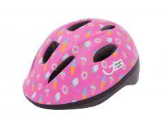 Шлем детский Green Cycle Sweet малиновый/розовый лак Размер 50-54 см