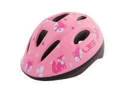 Шлем детский Green Cycle Foxy розовый/малиновый/белый лак Размер 50-54 см