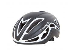 Шлем Green Cycle Jet для шоссе/триатлона и гонок с раздельным стартом черно-белый матовый Размер L