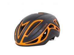 Шлем Green Cycle Jet для шоссе/триатлона и гонок с раздельным стартом черно-оранж матовый Размер L