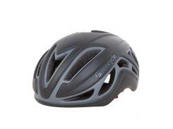 Шлем Green Cycle Jet для шоссе/триатлона и гонок с раздельным стартом черно-серый матовый Размер L