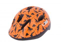Шлем детский Green Cycle Dino оранжевый/чёрный лак Размер 48-52 см