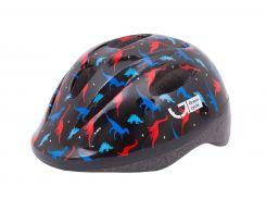 Шлем детский Green Cycle Dino черный/красный/синий лак Размер 48-52 см