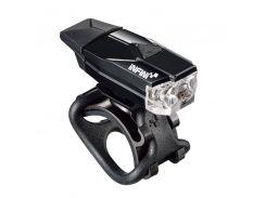 Мигалка передняя INFINI Mini LAVA, USB, 1 белый светодиод, чёрный корпус, 4 режима, пластиковый кронштейн + силик. петля, батарея Lithium-ion Polymer (LTS-68-99)