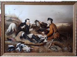 """Картина В.Г.Перова """"Охотники на привале"""""""