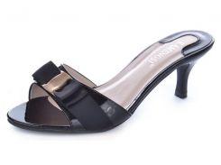 Босоножки женские лакированные на каблуке Eva черные