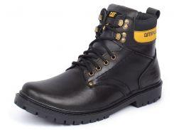Ботинки мужские кожаные CAT Caterpillar black