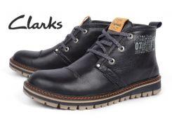 Ботинки мужские кожаные зимние Clarks Urban Tribe black