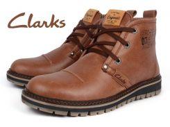 Ботинки мужские кожаные зимние Clarks Urban Tribe brown