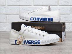 Кеды Converse All Star Chuck Taylor II белые с синей надписью